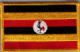 Uganda Embroidered Flag Patch, style 08.